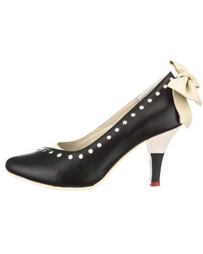 Lola EUR Ramona Stiletto Schuhe, EUR Lola 36 bis 41, Cremefarbe Damen Rockabella Pumps 2ca229