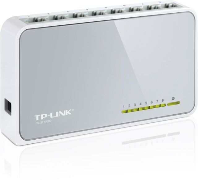 TP-LINK TL-SF1008D 8 Ports External Desktop Ethernet Switch 10/100 Retail New