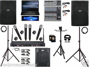 Club Audio System Restaurant Sound System Karaoke Laptop