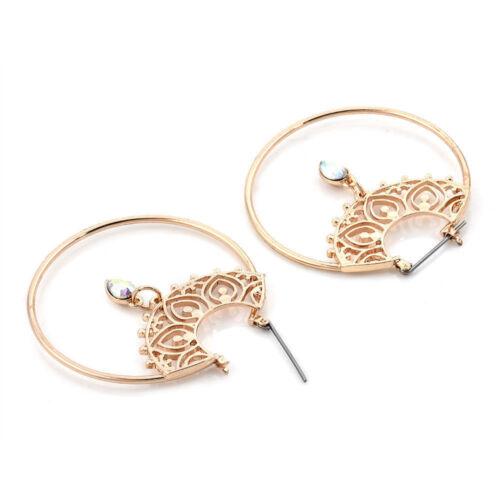 Boho Geometric Circle Round Dangle Drop Ear Stud Earrings Fashion Women Jewelry