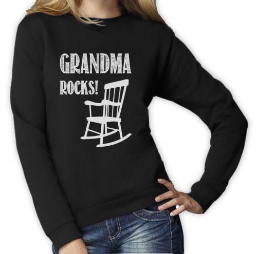 Grandma Rocks Mother/'s Day Gift Idea for Nana Funny Women Sweatshirt Grandmother