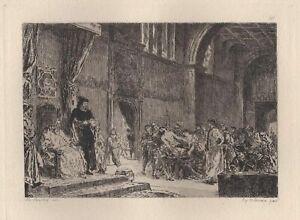 Eugene-Delacroix-Les-deux-Foscari-Venise-Eau-Forte-ancienne-Courtry-XIXe