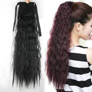 55cm-Curly-Hair-Ponytail-Clip-In-Hairpiece-Tie-on-Tail-Synthetic-Hair-Extensions