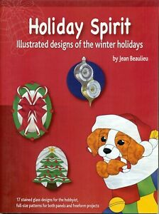 Holiday Spirit Stained Glass Pattern Book Christmas Balls Bells Canes Santa Ebay