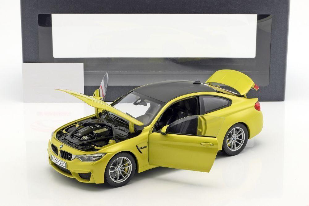 BMW BMW BMW M4 (F82) Austin yellow 1 18 Scale Model Cars 0980f9
