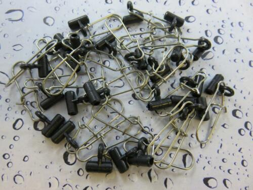 25 X  BLACK ZIP SLIDER BOOMS FOR SEA BOAT FISHING WEIGHT LINE CLIPS AND RIGS