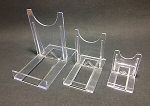 1 LARGE TWIST TOGETHER PERSPEX TWO PART DISPLAY STAND 8 CMS X 9.5 CMS
