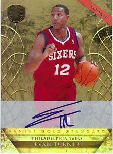 Evan-Turner-2010-11-Gold-Standard-RC-Rookie-Card-Auto-Autograph-214-015-299