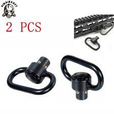 2 PCS Black QD Rifle Sling Swivel Mount Quick Release Push Button Airgun Airsoft