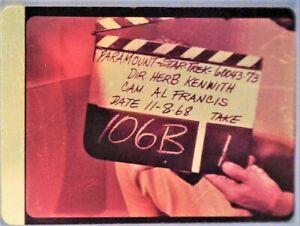 Star-Trek-TOS-35mm-Film-Clip-Slide-Lights-of-Zetar-Clapper-Board-Kirk-3-18-35