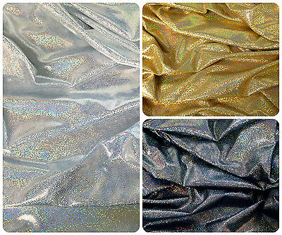 Abstract Pattern w// Reptile Multicolor Shiny Foil on Stretch Poly Spandex Fabric