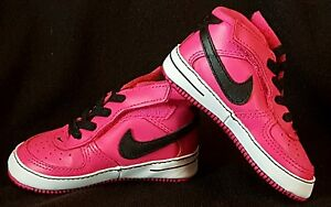 0d162d496b858 NIB~ NIKE GIRLS HOT PINK BLACK FORCE 1 GIFT PACK CRIB SHOES 1 4 ...