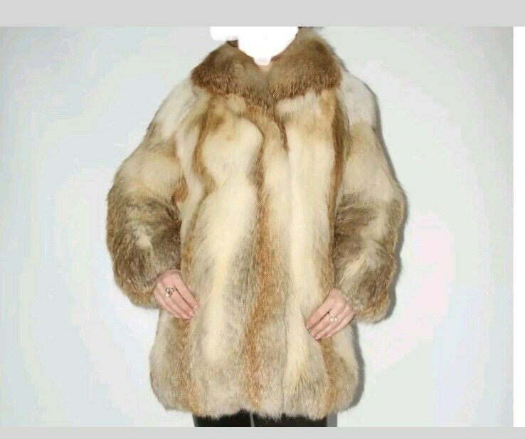Real red fox fur coat xl Size 14 16 18