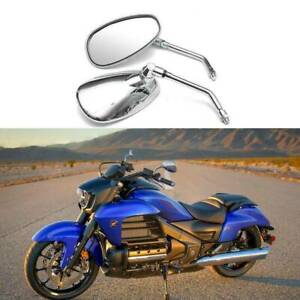 Chrome Motorcycle Rear View Side Mirrors 10mm For Honda Goldwing Valkyrie F6c Ebay