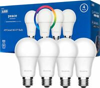 4-Pack Hampton Peace Light Bulb