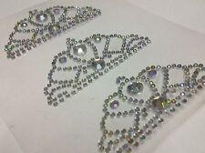 CraftbuddyUS 3 Self Adhesive AB Clear Diamante Wedding Tiaras Rhinestone Gems