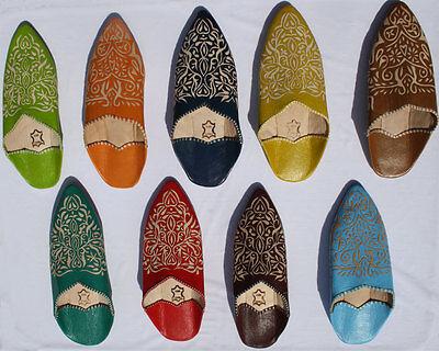 Orientalische Babouche Damen Schuhe Leder Marokkanische Slipper Pantoffel Marokk