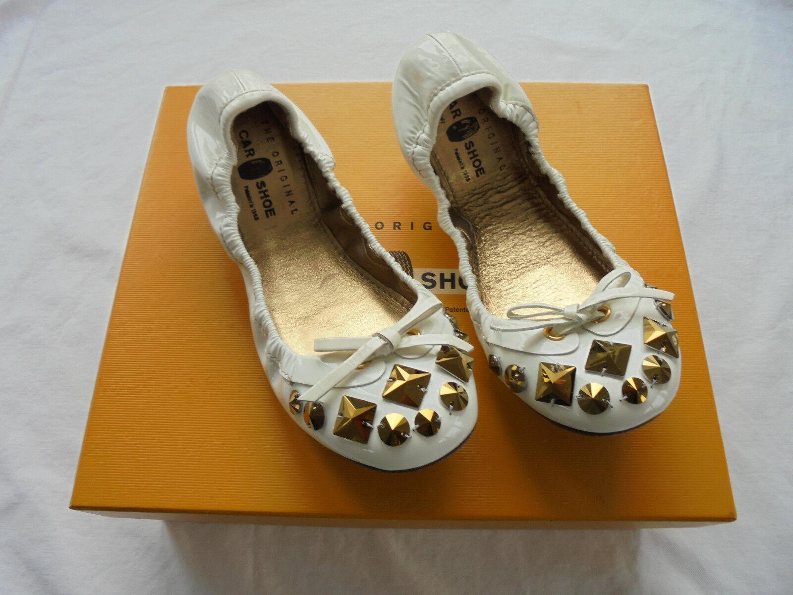 Car Schuhe by PRADA Lackleder Ballerinas NP  w NEU Pumps Schuhe Gr. 36 36,5 37