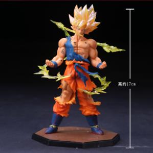Anime-Dragon-Ball-Z-Super-Saiyan-Goku-PVC-Action-Figure-Figurine-Toy-Gift-17CM