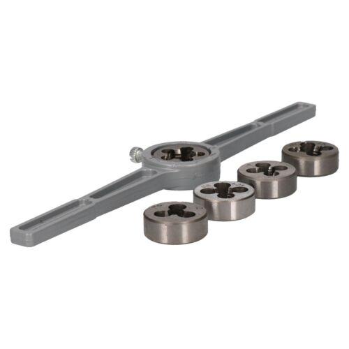 Wrench M6 M12 Thread Repair Kit TE577 6pc Metric Die Set With Holder