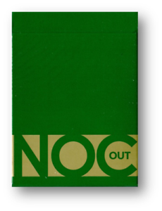 NOC Out Green and Gold Playing Cards Poker Spielkarten Cardistry