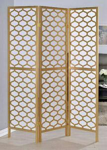 Gold-finish-3-Panel-Honeycomb-Lantern-Design-Room-Divider-70in-H