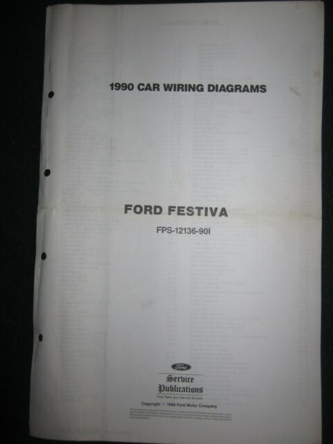 1990 Ford Festiva Electrical Wiring Diagram Manual Schematic Sheets Oem