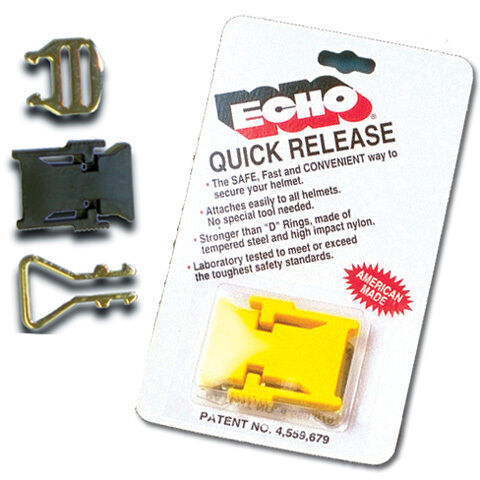 2 Echo Yellow Motorcycle//Snowmobile Helmet Strap Quick Relase Buckle DOT//Snell