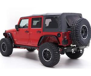 2007-2009 jeep wrangler unlimited replacement soft top with tinted