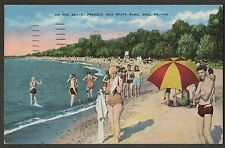 On The Beach Presque Isle State Park Erie Pa 1940