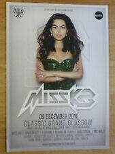 Miss K8 - Glasgow dec.2016 tour concert gig poster