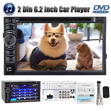 "2 Din 6.2"" Car Stereo CD DVD Player Bluetooth Touchscreen For Chevy Express 1500"