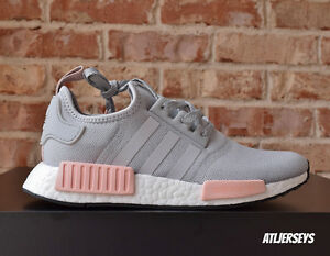 Image is loading Adidas-NMD-R1-Runner-Grey-Vapour-Pink-Light-