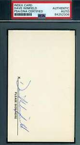 Dave-Winfield-PSA-DNA-Coa-Autograph-Hand-Signed-1973-Rookie-3x5-Index-Card
