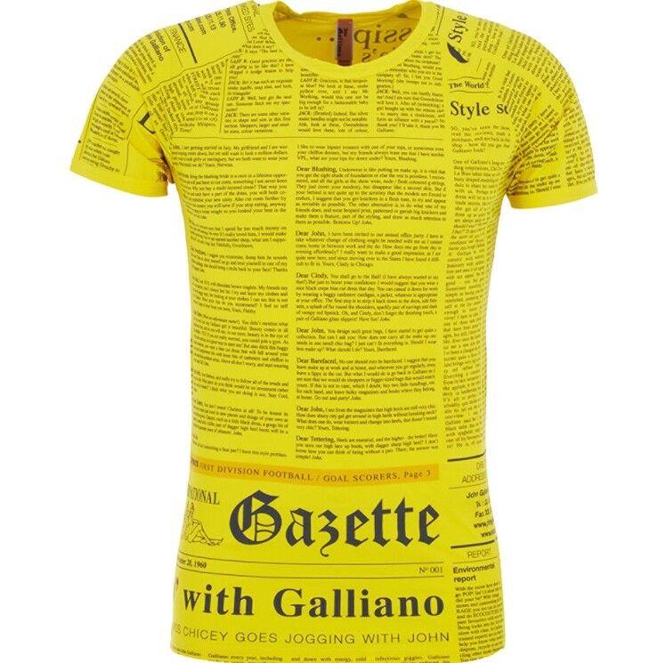 John GALLIANO Beachwear di di di marca iconica Gazette Stampa T-Shirt-Made in  73107b