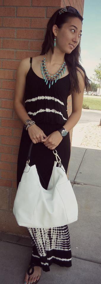 TPARTY   schwarz & Weiß Maxi Dress