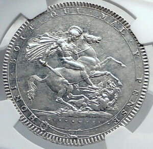 1820-GREAT-BRITAIN-UK-King-George-III-Antique-Silver-CROWN-Coin-NGC-i81741