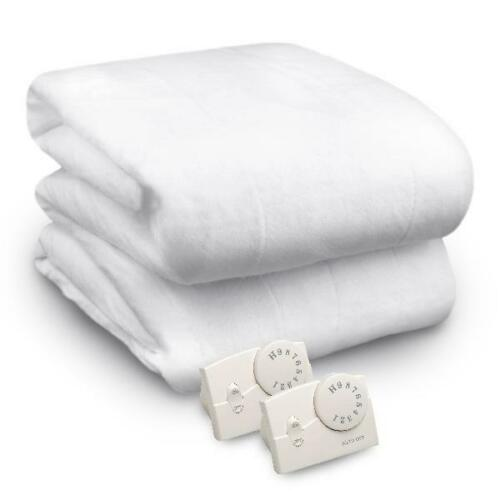 White Multiple Sizes 10 Heat Settings Biddeford Heated Mattress Pad