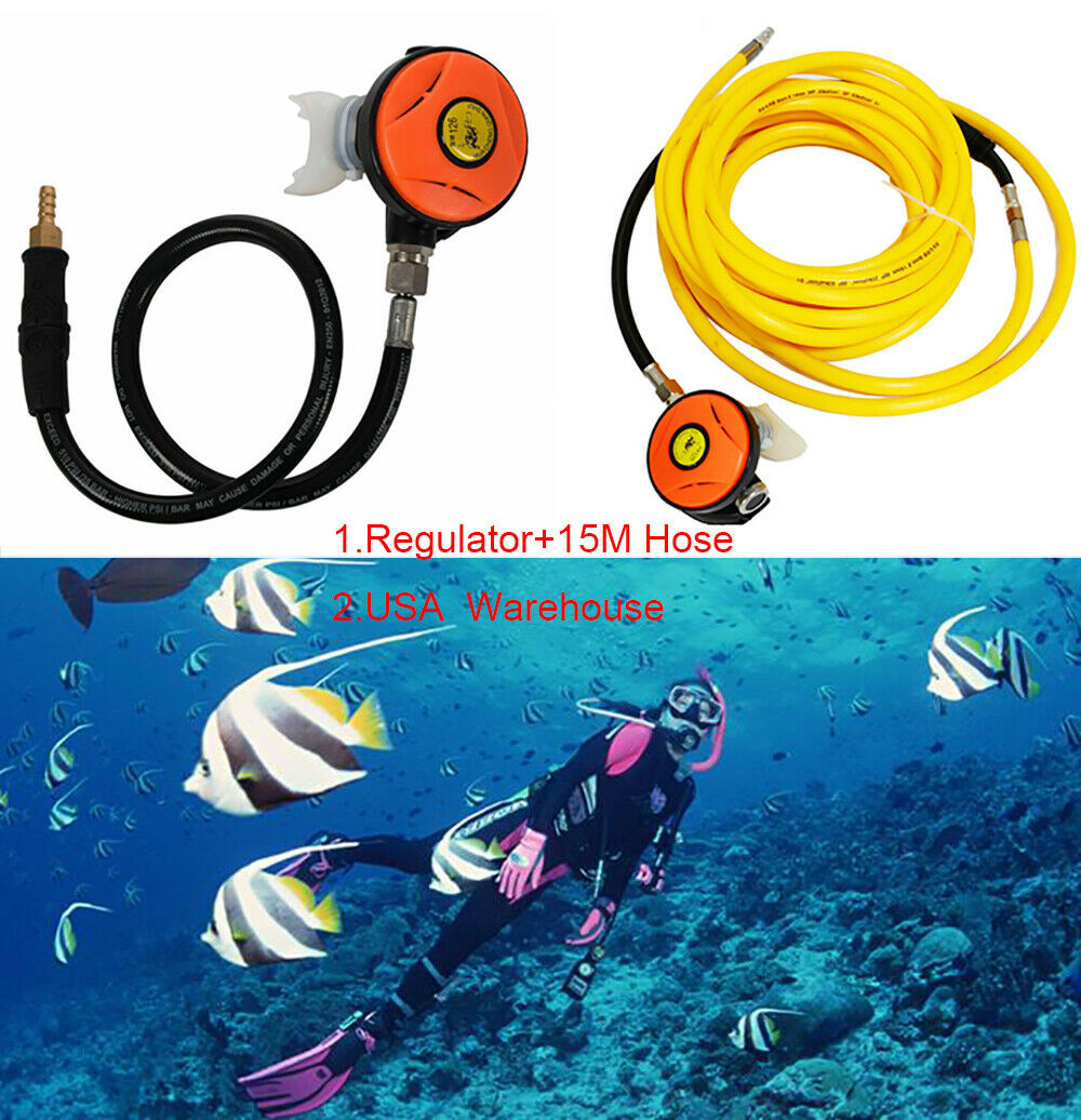 57cm 145 PSI Explorer Scuba Diving Dive 2nd Stage Regulator Octopus /& Hookah New
