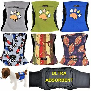 LEAK-PROOF-Male-Dog-Diapers-Belly-Band-Wrap-Washable-ULTRA-ABSORBENT-Small-Large
