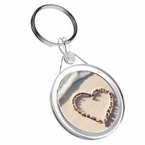 1 X Cool Amour Cœur Plage Sable-porte-clés Ir02 Maman Papa Enfants Anniversaire Cadeau #8717 Lissage De La Circulation Et Des Douleurs D'ArrêT