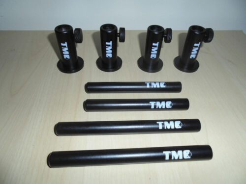 """4 x TMC Anodized Aluminium Stage stands with 2 x 4/"""" inserts and 2 x 5/"""" inserts"""