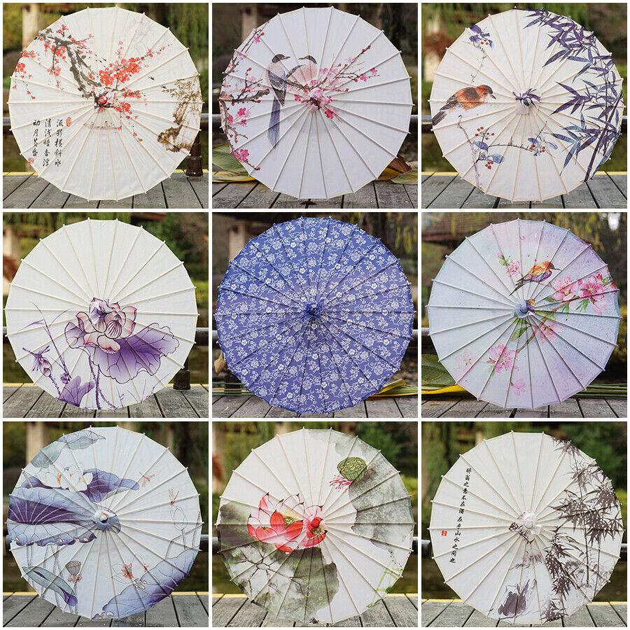 Chinese Silck Oil Umbrella Wedding Art Parasol Dance Decoration Photo Prop Tool