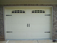 Deluxe Garage Door Decorative Hardware Kit - Hinges & Handles - Includes Screws