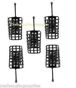 5  Square Metal  Fishing Cage Swim feeders Swimfeeders for line reel etc