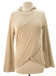 Womens-cream-Patagonia-long-sleeve-hoodie-size-M