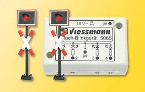 Viessmann-5801-n-andreaskreuze-2-unidades-con-blinkelektronik