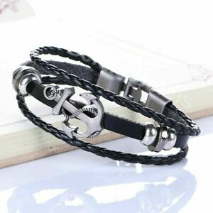 Anker-Damen-Herren-Vintage-Armband-Surferarmband-Armschmuck-Kette-Bracelet-WOW