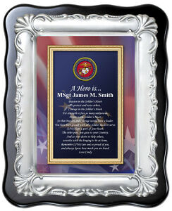Image Is Loading USMC Plaque Military Marine Corps Gift Soldier Homecoming