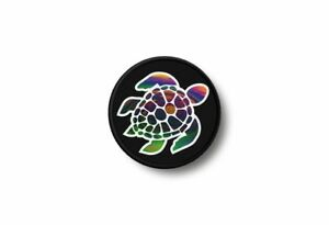 Patch-badge-embroidered-border-printed-iron-applique-turtle-scuba-diving-diver